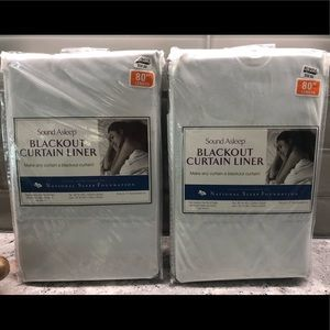 New! Blackout Curtain ~ Liners 2 Sets